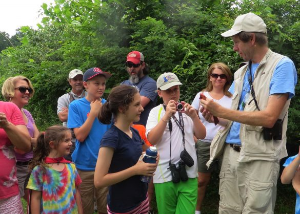 Bird Experience at Middle Run family program by with Ian Stewart Bird Bander by Derek Stoner